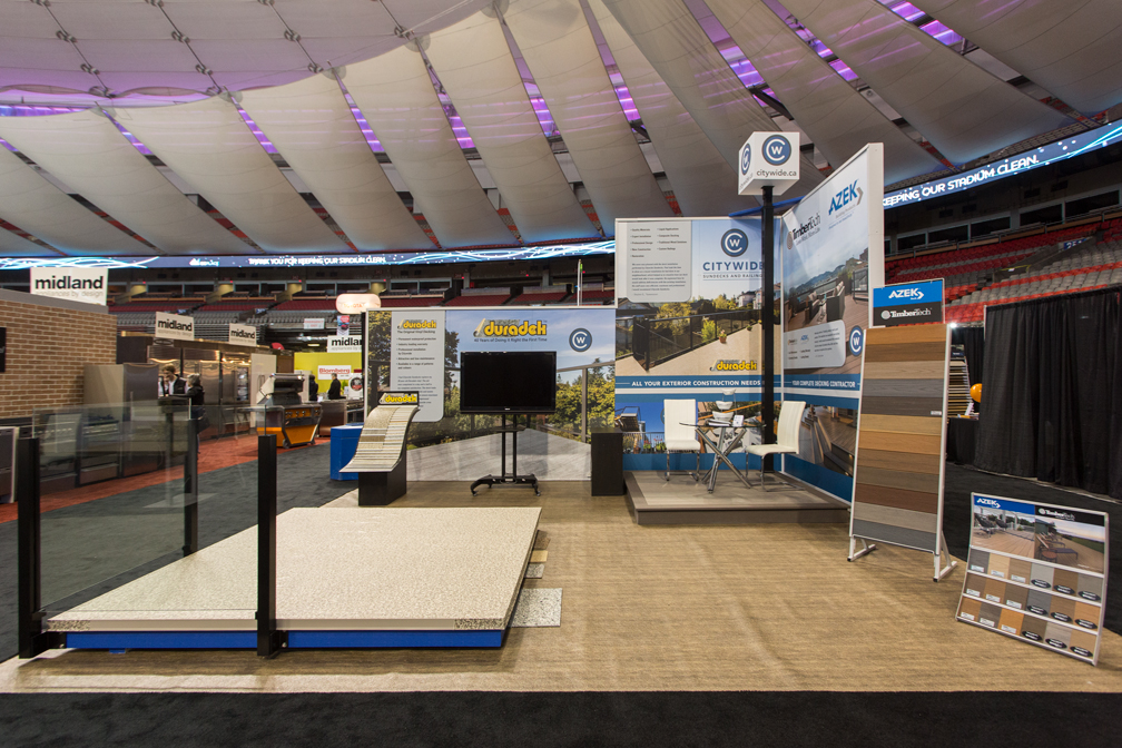 Citywide Sundecks Home show booth