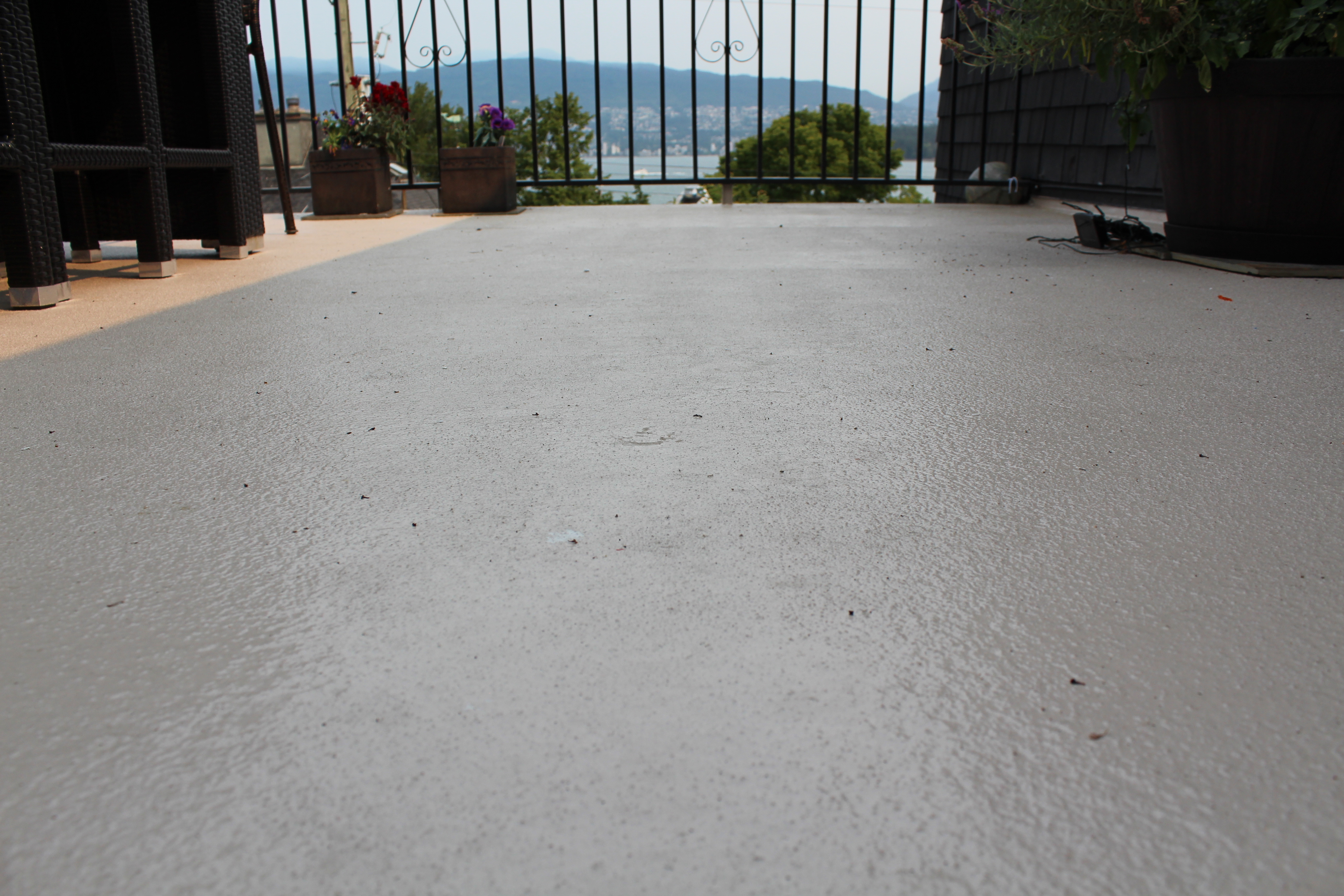 Liquid Decking With Texture Over Vinyl With View