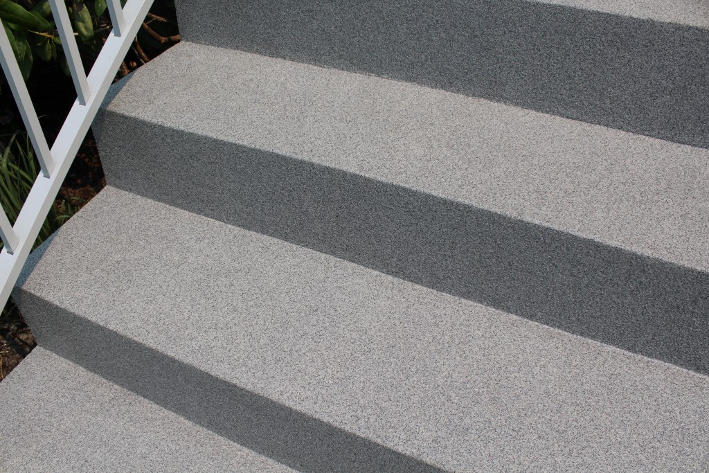 Citywide Liquid Decking stairs with texture