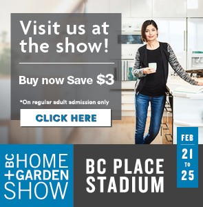 BC Home + Garden Show Tickets button